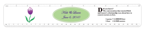 Custom Plastic ruler for Wedding Favor ruler with personalization