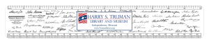 Presidents ruler with Harry S. Truman museum personalization