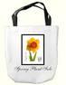 custom tote bag with daffodil