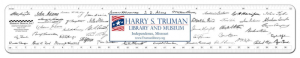 Truman Library personalized ruler