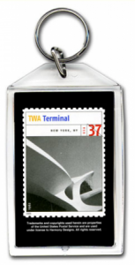 Architecture stamp design with custom acrylic keychain - large