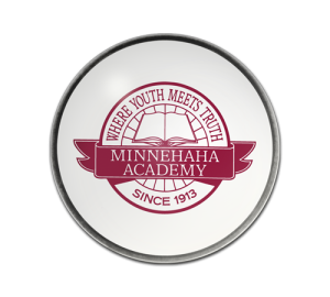 Personalized School Logo Paperweight Example