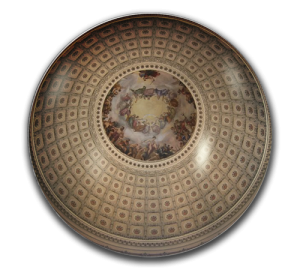 Custom Glass Paperweight - Deluxe - U.S. Capitol Ceiling Paperweight Example
