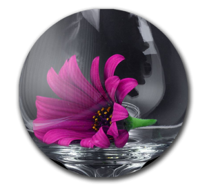 Custom Crystal Flower Paperweight Example