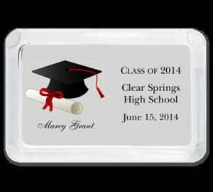 Glass Graduation Paperweight