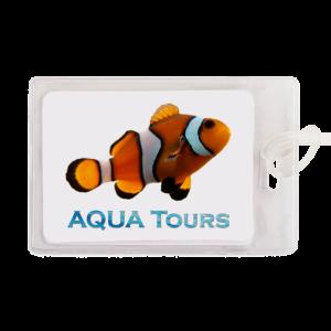 Custom Plastic Luggage Tags - Fish logo