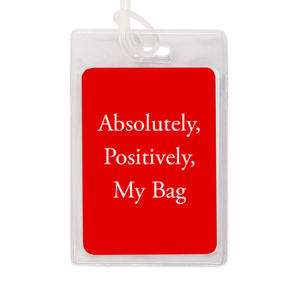 custom vinyl luggage tag - My Bag