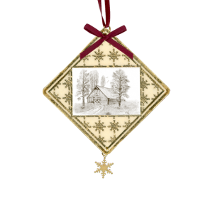 Custom Christmas Ornament - Bulk Orders - Gold Foill background