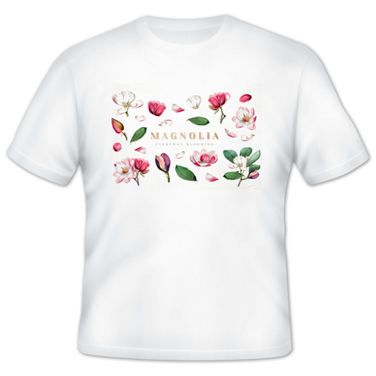 Personalized Tshirt with Magnolias