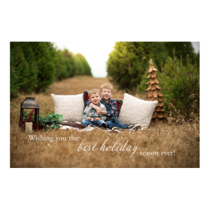 Custom Printed Post Cards - Holiday card with kids