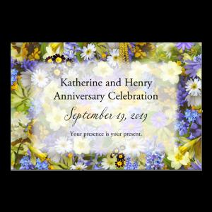 Custom Printed Postcard - For Anniversary Celebration
