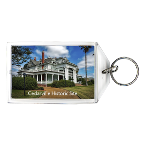 Museum historic site personalized keychain