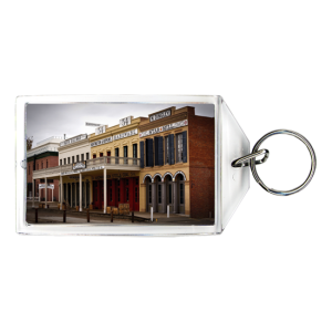 Plastic keychain for town