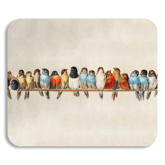 Birds on a wire mousepad