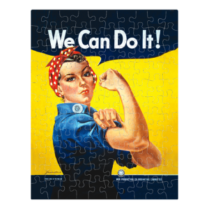 Custom Printed Jigsaw Puzzles - We Can Do It Rosie the Riveter jigsaw puzzle