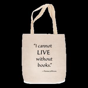 Custom Printed Tote Bag - Quote tote bag