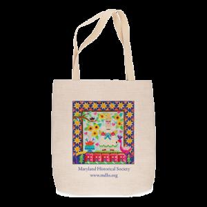 Custom Printed Tote Bag - Quilt design