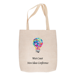 Custom Printed Tote Bag -Light bulb with multicolor