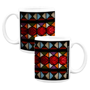custom mug with fabric design
