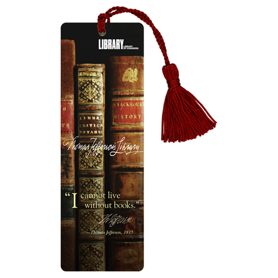 Custom Laminated Bookmarks - With burgundy tassel- Books and quotation