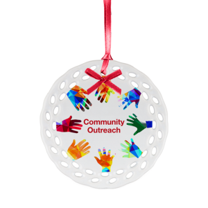 Ceramic Ornament - Outreached Hands