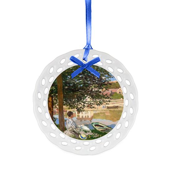 Ceramic Ornament with art