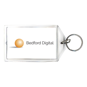 Customized Keychain - Orange Circle logo keychain for business