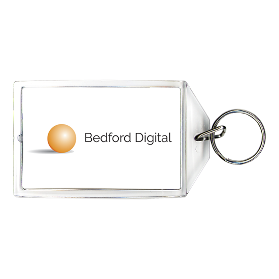 Logo keychain for business