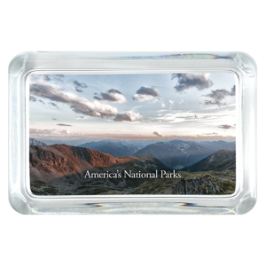 Grand Canyon and sky custom Photo Glass Paperweight - Rectangle Crystal - Rectangle