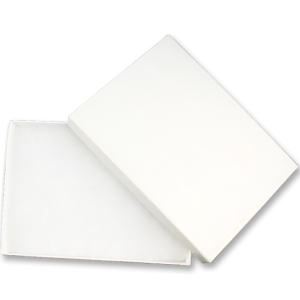 White Gift Box lined with cotton for rectangular paperweight