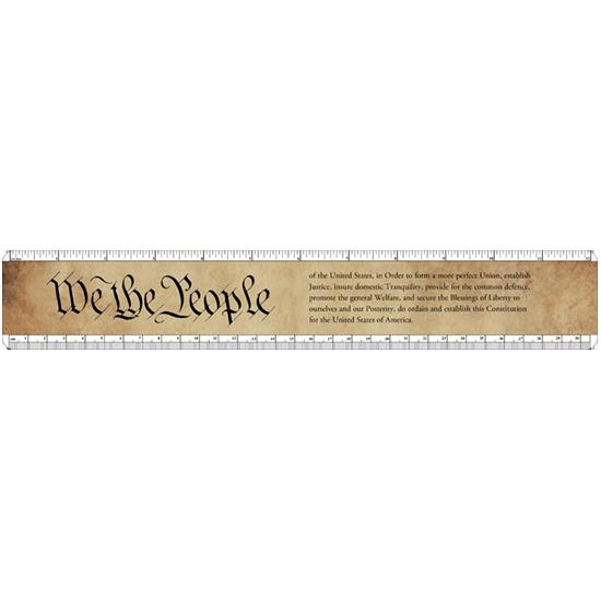 custom ruler - plastic- We the people