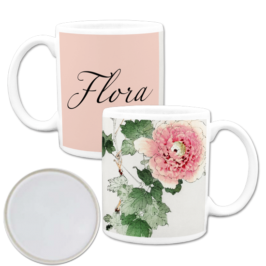 custom mugs made in america- Floral