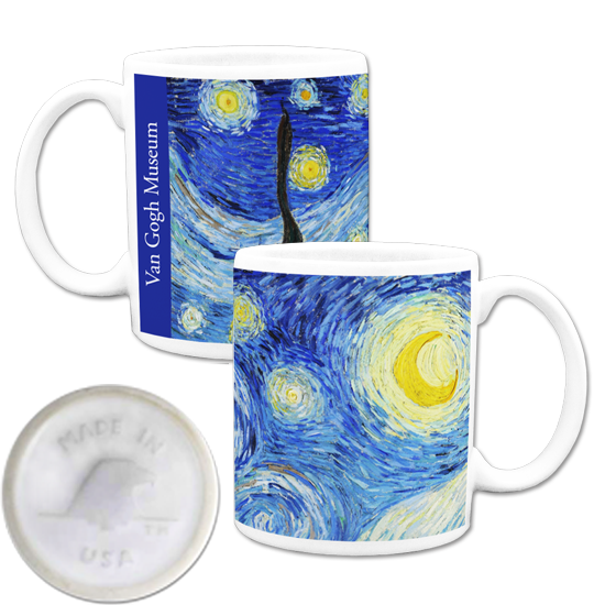 Custom made in america mug - Van Gogh Starry Night