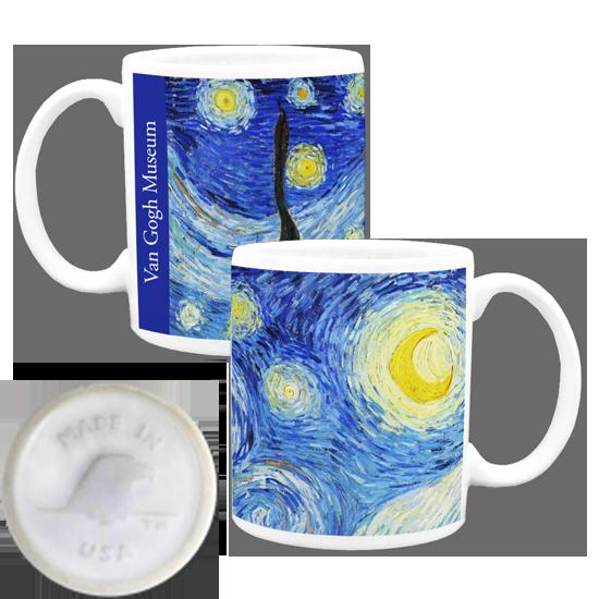 Custom made in america mug - Van Gogh Starry Night