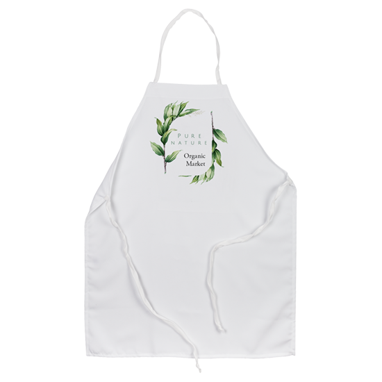 Custom Printed Apron - Organic market logo