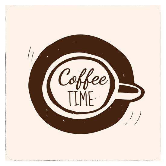 Custom Printed Drink Coaster - Coffee shop logo