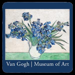 Custom Printed Drink Coaster - Van Gogh Iris