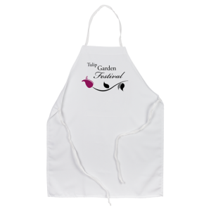 Purple tulip art onpersonalized apron
