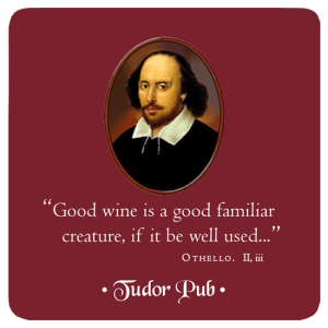 Custom Drink Coaster - Shakespeare painting in full color with