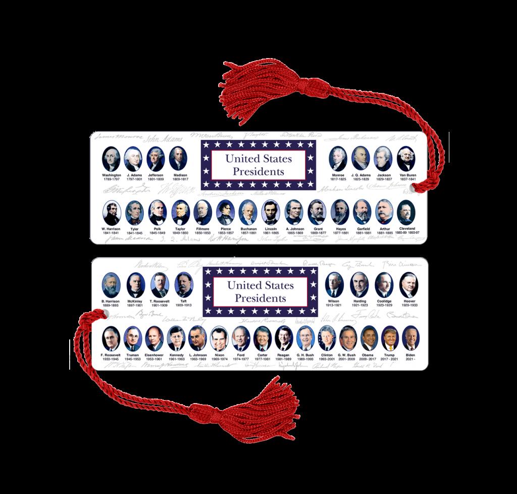 Presidents Bookmark