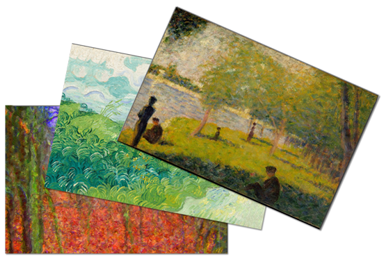 Custom Postcards with paintings shown