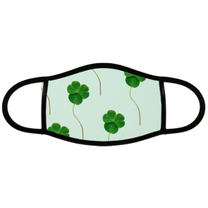 Custom face mask with closers and green background