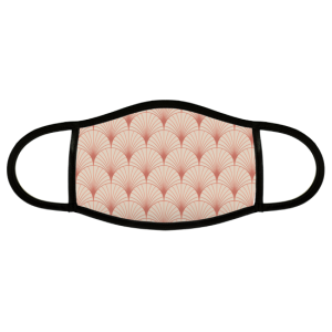 Custom Face Mask with repeating shell pattern