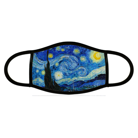 Face mask with Starry Night painting