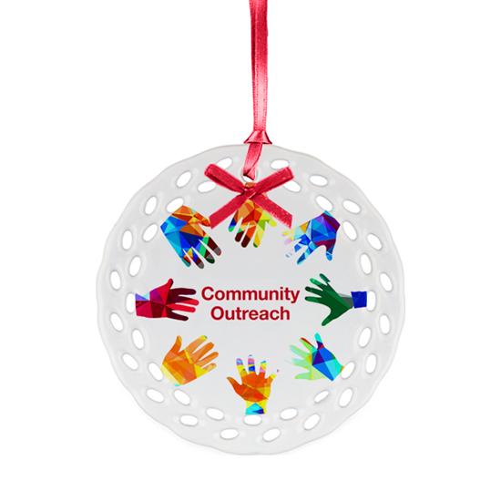 Ceramic Ornament - Outreached Hands