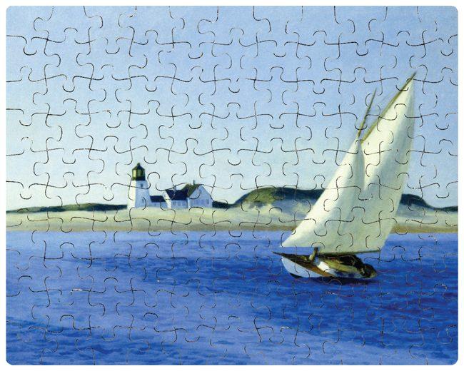 custom printed jigsaw puzzle - Sailboat painting