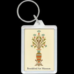 Art Museum vase with stylized flowers acrylic keychain