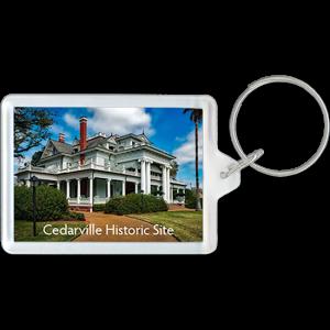 Historic Site mansion on acrylic keychain