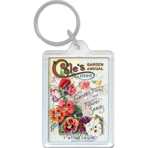 Flower seed packet acrylic keychain