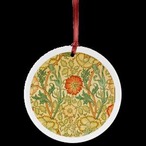 Custom Ceramic Ornament with fabric design